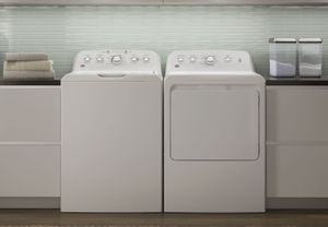 Package GE46WE - GE Appliance Laundry Package - Top Load Washer with Electric Dryer - White