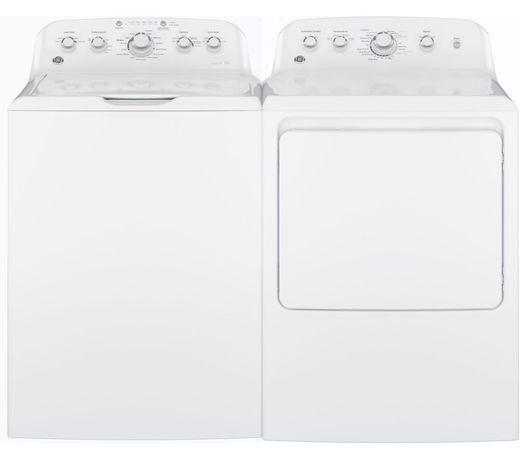 Package GE46WG - GE Appliance Laundry Package - Top Load Washer with Gas Dryer - White