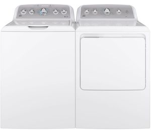 Package GE50WG - GE Appliance Laundry Package - Top Load Washer with Gas Dryer - White