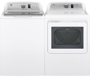 Package GE68WE - GE Appliance Laundry Package - Top Load Washer with Electric Dryer - White