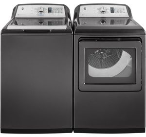 Package GE75DGG - GE Laundry Package - Top Load Washer with Gas Dryer - Gray