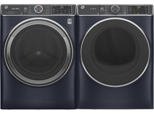 Package GE850RSE - GE Appliance Laundry Package - Front Load Washer with Electric Dryer - Royal Sapphire