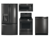 Package GEBTS1 - GE Profile Appliance Package - 4 Piece Appliance Package with Electric Range - Includes Free Microwave - Black Stainless