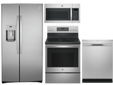 Package GEFS1 - GE Appliance 4 Piece Appliance Package with Electric Range - Anti-Fingerprint Stainless Steel