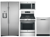 Package GEFS2 - GE Appliance 4 Piece Appliance Package with Gas Range - Anti-Fingerprint Stainless Steel