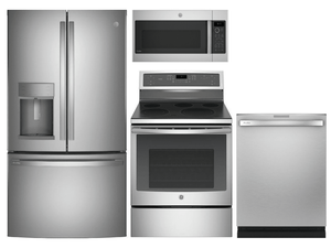 Package GEP1 - GE Profile Appliance Package - 4 Piece Appliance Package with Electric Range - Stainless Steel