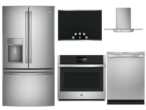 Package GEP3 - GE Profile Appliance Package - 5 Piece Appliance Package with Electric Cooktop - Stainless Steel
