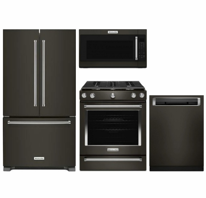 Package KB2 - KitchenAid Appliance Package - 4 Piece ...