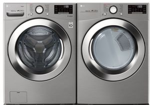 Package LG37VE - LG Washer and Dryer Package - Front Load Washer and Electric Dryer - Graphite Steel