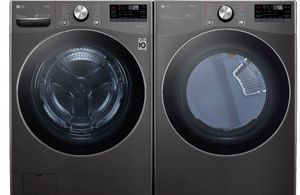 Package LG42BE - LG Appliance Laundry Package - Front Load Washer with Electric Dryer - Black Steel