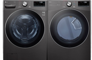 Package LG42BG - LG Appliance Laundry Package - Front Load Washer with Gas Dryer - Black Steel