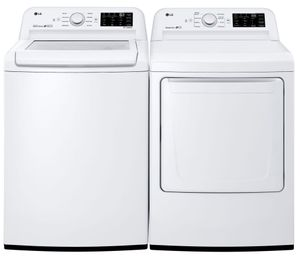 Package LG71WG - LG Washer and Dryer Package - Top Load Washer and Gas Dryer - White