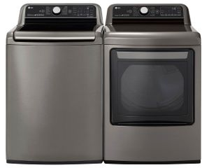 Package LG78VE - LG Appliance Washer and Dryer Package - Top Load Washer with Electric Dryer - Graphite Steel