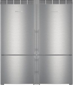 "Package LIE60 - Liebherr Appliance 60"" Side By Side Combination Package - 2 Bottom Mount Refrigerator Freezers - Stainless Steel"