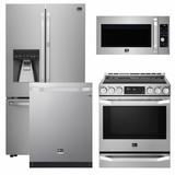 Package LS1 - LG Studio Appliances - 4 Piece Appliance Package with Electric Range - Stainless Steel
