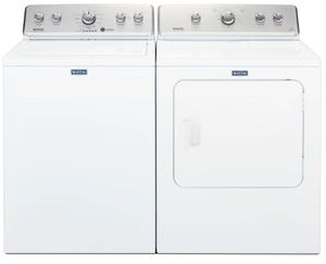 Package MAY565WG - Maytag Appliance Laundry Package - Top Load Washer with Gas Dryer - White