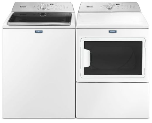 Package MAY76WE - Maytag Appliance Laundry Package - Top Load Washer with Electric Dryer - White