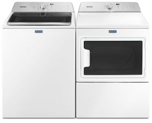 Package MAY76WG - Maytag Appliance Laundry Package - Top Load Washer with Gas Dryer - White