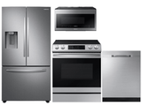 Package S1  - Samsung Appliance Package - 4 Piece Appliance Package with Electric Range - Stainless Steel