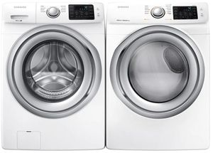 Package SSW5300WE - Samsung Washer and Dryer Package - Front Load Washer and Electric Dryer - White