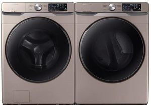 Package SSW6100ACE - Samsung Washer and Dryer Package - Front Load Washer and Electric Dryer - Black Stainless Steel