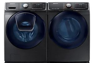 Package SSW6500VE - Samsung Washer and Dryer Package - Front Load Washer and Electric Dryer - Black Stainless Steel