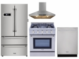 """Package THO30 - Thor Appliance 4 Piece Appliance Package with 30"""" Gas Range - Stainless Steel"""