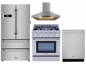 "Package THO30 - Thor Appliance 4 Piece Appliance Package with 30"" Gas Range - Stainless Steel"