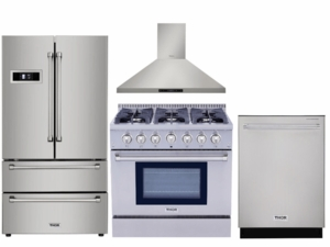"""Package THO36 - Thor Appliance 4 Piece Appliance Package with 36"""" Gas Range - Stainless Steel"""