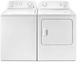 Package WHI46WE - Whirlpool Washer and Dryer Package - Top Load Washer and Electric Dryer - White