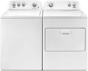 Package WHI48WE - Whirlpool Appliance Laundry Package - Top Load Washer with Electric Dryer - White