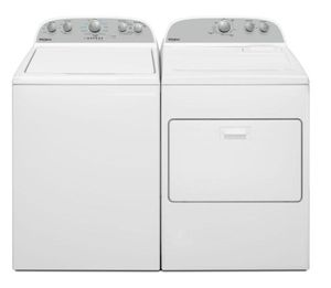 Package WHI49E - Whirlpool Appliance Laundry Package - Top Load Washer with Electric Dryer - White