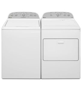 Package WHI50WE - Whirlpool Appliance Laundry Package - Top Load Washer with Electric Dryer - White