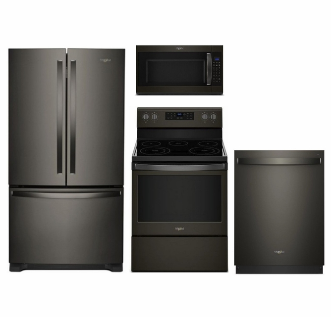 Package Wpbs1 Whirlpool Appliance Package 4 Piece Appliance Package With Electric Range Black Stainless Steel