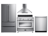 PackageVER36E - Verona Appliance 4 Piece Appliance Package with Electric Range - Stainless Steel