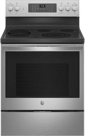 "PB935YPFS GE 30"" Profile Freestanding Electric Convection Range with AirFry and Built In WiFi - Fingerprint Resistant Stainless Steel"