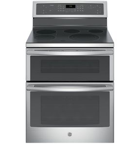 "PB960SJSS GE Profile Series 30"" Free-Standing Electric Double Oven Convection Range with Edge-to-edge Cooktop - Stainless Steel"