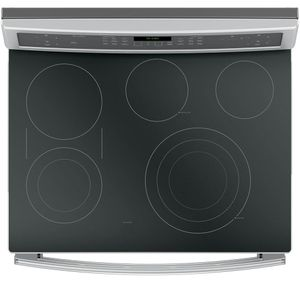 """PB960SJSS GE Profile Series 30"""" Free-Standing Electric Double Oven Convection Range with Edge-to-edge Cooktop - Stainless Steel"""
