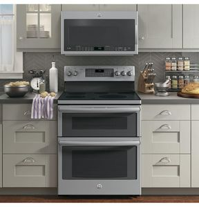 "PB980SJSS GE Profile Series 30"" Free-Standing Double Oven Convection Range with Edge-to-edge Cooktop - Stainless Steel"