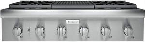 "PCG364WL Thermador 36"" Professional Rangetop  with 4 Burners and Grill - Stainless Steel"