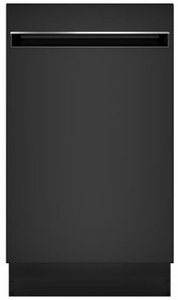 "PDT145SGLBB GE 18"" Profile Series Built In Dishwasher with Autosense Cycle and 3 Level Wash - Black"