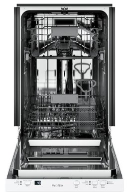 "PDT145SGLWW GE 18"" Profile Series Built In Dishwasher with Autosense Cycle and 3 Level Wash - White"