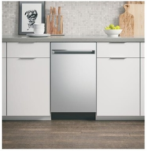 "PDT145SSLSS GE 18"" Profile Series Built In Dishwasher with Autosense Cycle and 3 Level Wash - Stainless Steel"