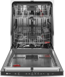 "PDT715SYNFS GE Profile 24"" Stainless Steel Interior Hidden Control Dishwasher with DryBoost and Piranha Food Disposer - Fingerprint Resistant Stainless Steel"