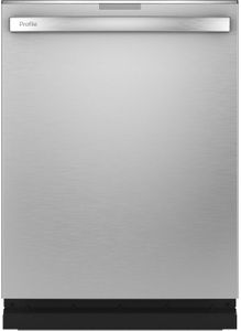 """PDT775SYNFS GE Profile 24"""" Stainless Steel Interior Hidden Control Dishwasher with Twin Turbo DryBoost and Wifi Connect - Fingerprint Resistant Stainless Steel"""