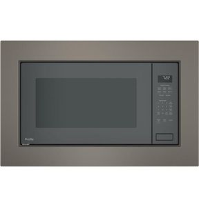 """PEB7227ANDD GE 24"""" Profile Series 2.2 cu. ft. Built In Microwave with Glass Touch Controls and Sensor Cooking Controls - Gray"""