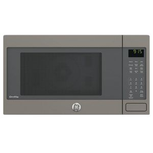 "PEB9159EJES GE 22"" Profile Series 1.5 cu. ft. Countertop Convection Microwave Oven with 1,000 Watts and 10 Power Levels - Slate"
