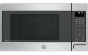 """PEB9159SJSS GE 22"""" Profile Series 1.5 cu. ft. Countertop Convection Microwave Oven with 1,000 Watts and 10 Power Levels - Stainless Steel"""