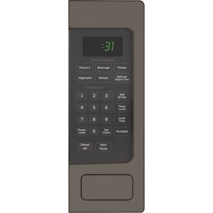 """PEM31EFES GE 24"""" Profile 1.1 Cu. Ft. Countertop Microwave with Sensor Cooking and Kitchen Timer - Slate"""