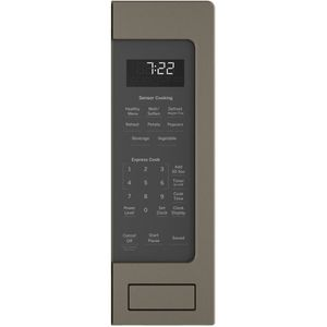 """PES7227ELES GE 24"""" Profile Series 2.2 cu. ft. Countertop Microwave with Control Lockout and Sensor Cook - Slate"""